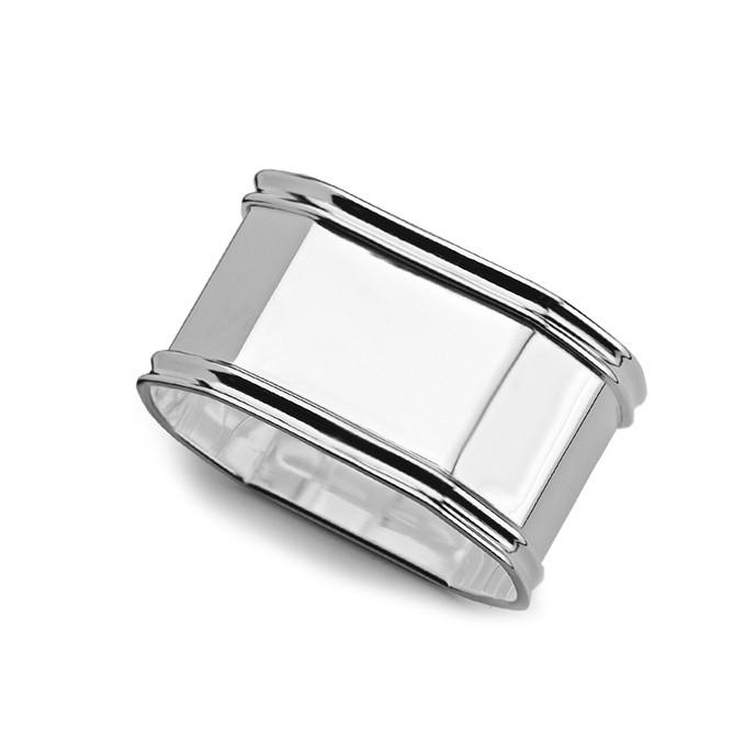 octagonale zilveren servetring