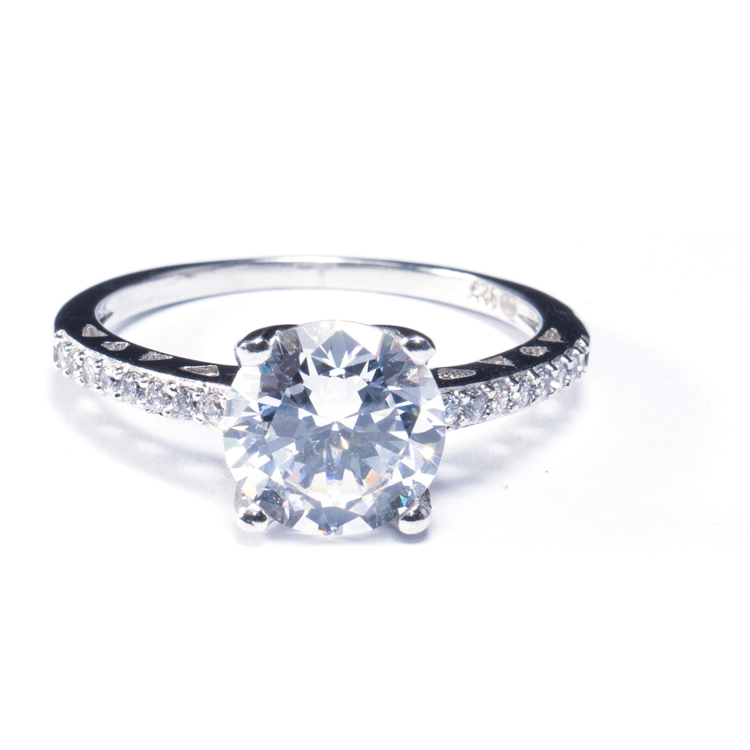 Diamond band engagement rings