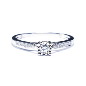 """Chuchoter"" diamond band engagement rings"