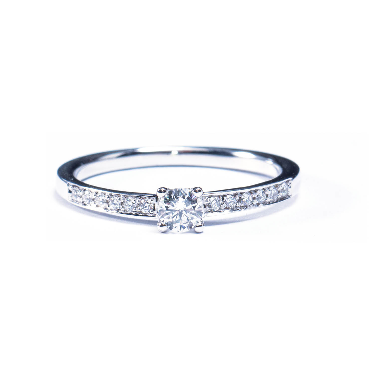 reuven basket engagement product setting split diamond band open thin prong rings